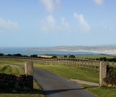 Beersheba Farm Entrance, looking towards Godrevy Lighthouse