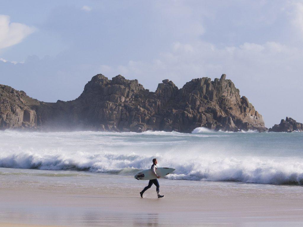 Surfing Porthcurno Adam Gibbard