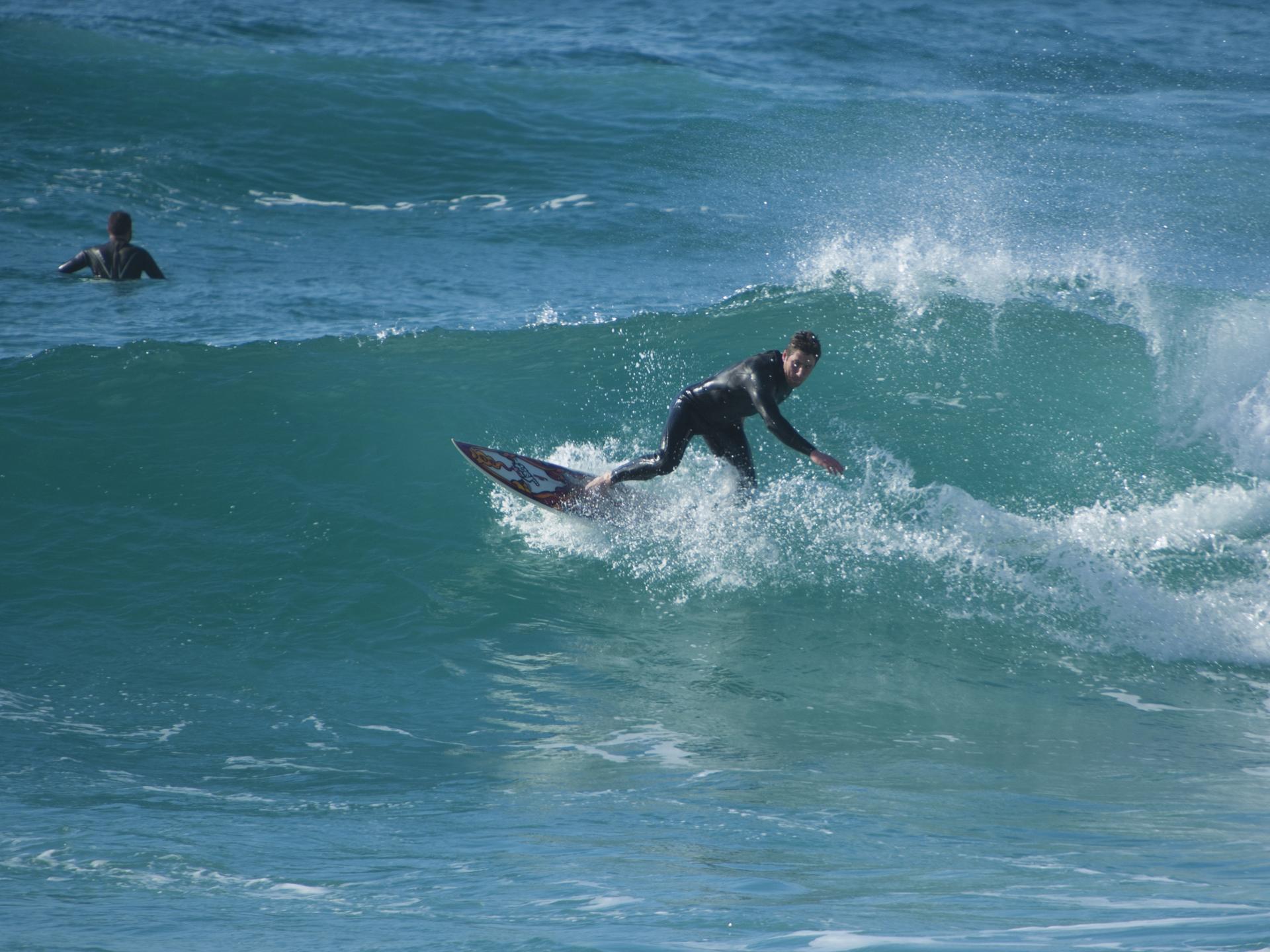 Surfing Adam Gibbard