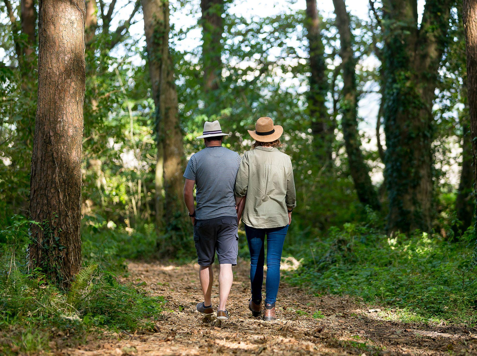 Couple in Wildflower Wood